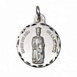 Medalla plata Ley 925m Nuestra Señora de la Mercé 21mm. cerco tallado