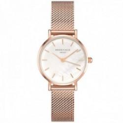 Reloj Rosefield mujer 26WR-265 The Small Edit White Rosegold correa malla milanesa