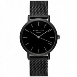 Reloj Rosefield mujer MBB-M43 The Mercer Black-Black correa malla milanesa