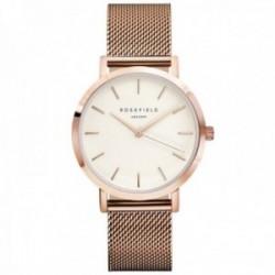 Reloj Rosefield mujer MWR-M42 The Mercer White Rosegold correa malla milanesa