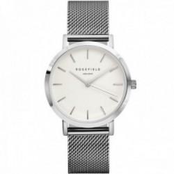 Reloj Rosefield mujer MWS-M40 The Mercer White Silver correa malla milanesa