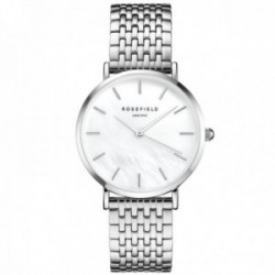 Reloj Rosefield mujer UEWS-U22 The Upper East Side White Pearl Silver