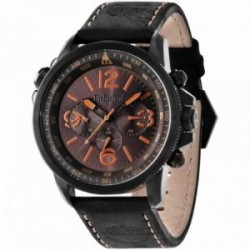 Reloj Timberland hombre Campton Black 13910JSB-12 acero inoxidable correa cuero