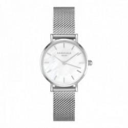 Reloj Rosefield mujer 26WS-266 The Small Edit White Silver correa malla milanesa