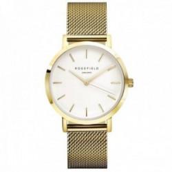 Reloj Rosefield mujer MBR-M45 The Mercer White Gold malla milanesa