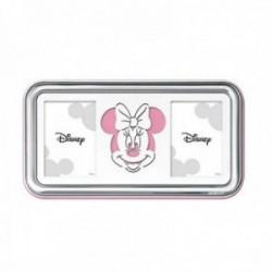 Marco portafotos plata Ley 925m Disney 2 fotos 8x5,5cm. Minnie láser rosa