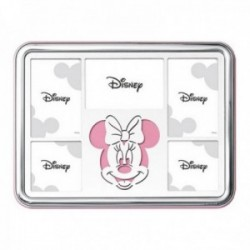 Marco portafotos plata Ley 925m Disney 5 fotos 25x18cm. Minnie láser rosa