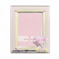 Marco Pierre Cardin portafotos plata Ley 925m foto 9x13cm. elefante rosa