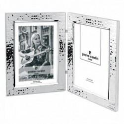 Marco Pierre Cardin portafotos plata Ley 925m doble foto 10x15cm.