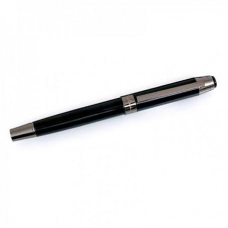 Roller  Pierre Cardin 14cm. capuchón extraíble color negro detalles plomo