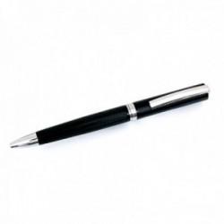 Bolígrafo Pierre Cardin 14cm. capuchón giratorio color negro detalles plateados rayado