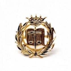 Insignia profesional Derecho oro 18k escudo pin solapa 16.5mm.