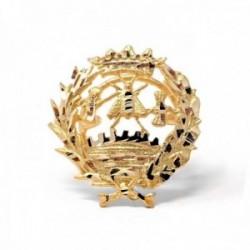 Insignia profesional Económicas oro 18k escudo pin solapa 17.6mm.