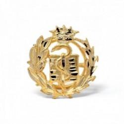 Insignia profesional Medicina oro 18k escudo pin solapa 17.7mm.