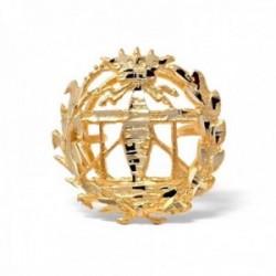 Insignia profesional Telecomunicaciones oro 18k escudo pin solapa 15.7mm.