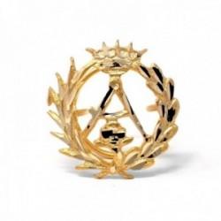 Insignia profesional Arquitectura oro 18k escudo pin solapa 16.6mm.