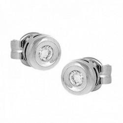 Pendientes Oro Blanco 18k modelo Tu Diamante (2 Diamantes 2,90mm. 0,20cts.) Medida: 5,90mm. Presión.