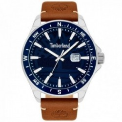 Reloj Timberland hombre 15941JYTBL-03 Swampscott 46mm. Navy 3h date tan leather