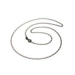 Cadena oro blanco 18k diamantada 50cm. espesor 1.5mm. cierre reasa unisex