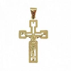 Cruz con Cristo Oro Amarillo 18k modelo Cruces Medida: 28x17x6mm.