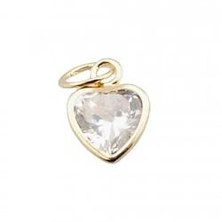 Colgante oro 18k circonita corazón [255]