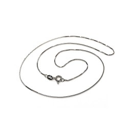 Cadena plata Ley 925m rodiada 45 cm. veneciana cierre reasa unisex