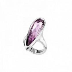 Sortija Unode50 LOVE HER talla 15 metal chapado plata centro Swarovski púrpura ANI0567RSAMTL0L