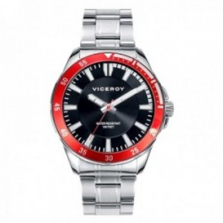 Reloj Viceroy hombre 432335-57 esfera negra bisel rojo acero inoxidable