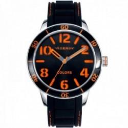 Reloj Viceroy hombre 47859-94 colección Colors negro detalles naranjas