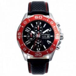 Reloj Viceroy hombre 40417-55 correa piel detalles rojos