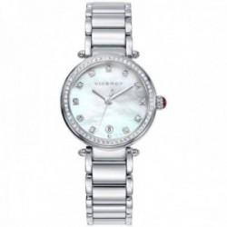 Reloj Viceroy mujer 471054-05 colección Penélope Cruz acero inoxidable detalle perilla piedra roja