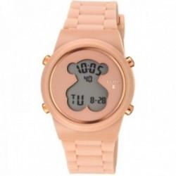 Reloj Tous mujer digital D-Bear Round 700350315 acero IP rosado correa silicona nude