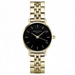Reloj Rosefield mujer 26BSG-268 The Small Edit Black Steel Gold correa acero inoxidable