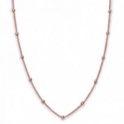 Gargantilla Rosefield JDCHR-J058 metal chapada oro rosa Iggy Dotted choker rosegold 46cm. bolitas
