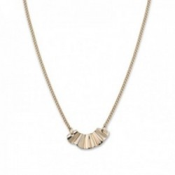 Colgante Rosefield BLWNG-J201 acero inoxidable chapado oro 18k colección Lois dije ondulado