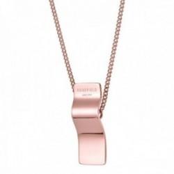 Colgante Rosefield BWCNR-J207 acero inoxidable chapado oro rosa colección Lois ondulado