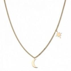 Gargantilla Rosefield MSNG-J209 acero inoxidable chapado oro 18k colección Lois luna estrella