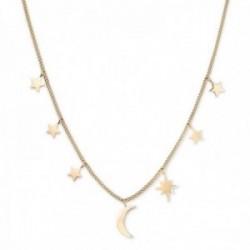 Gargantilla Rosefield MUSNG-J211 acero inoxidable chapado oro 18k colección Lois luna estrella