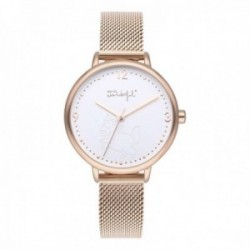 Reloj Mr. Wonderful mujer WR10001 SHINE AND SMILE pulsera acero inoxidable malla milanesa