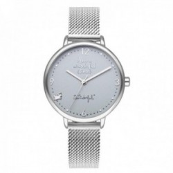 Reloj Mr. Wonderful mujer WR10200 SHINE AND SMILE pulsera acero inoxidable malla milanesa