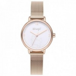 Reloj Mr. Wonderful mujer WR15001 SHINE AND SMILE pulsera acero inoxidable malla milanesa