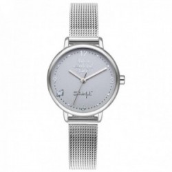 Reloj Mr. Wonderful mujer WR15200 SHINE AND SMILE pulsera acero inoxidable malla milanesa