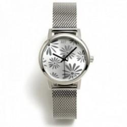 Reloj Agatha Ruiz de la Prada AGR261 colección Maya Margaritas plateado malla milanesa acero