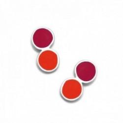 Pendientes plata Ley 925m Agatha Ruiz de la Prada 12mm. colección Mini Cósima círculos esmaltados