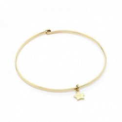 Pulsera Mr. Wonderful WJ30103 SPARKLING 55mm. acero inoxidable dorado motivo estrella