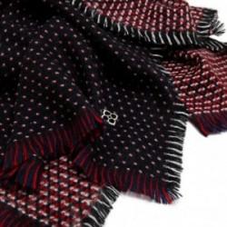 Pañuelo foulard Karambake modelo NABIU 70x180cm. bufanda flecos detalle flor metálica