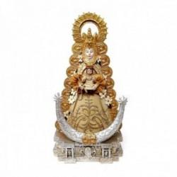 Figura Virgen del Rocío imagen 25cm. adorno resina peana decoración