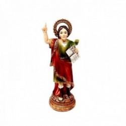 Figura San Pancracio imagen 11cm. adorno resina peana decoración