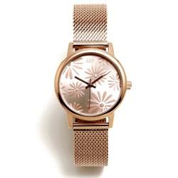 Reloj Agatha Ruiz de la Prada AGR260 colección Maya Margaritas rosado malla milanesa acero