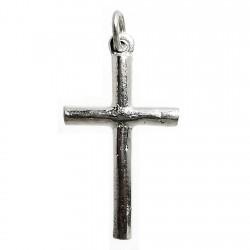 Cruz crucifijo plata Ley palo redondo macizo [1288]